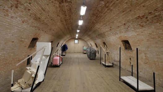 Un'opera di Ludovica Carbotta a Forte Marghera, progetto Monowe, città di un secolo
